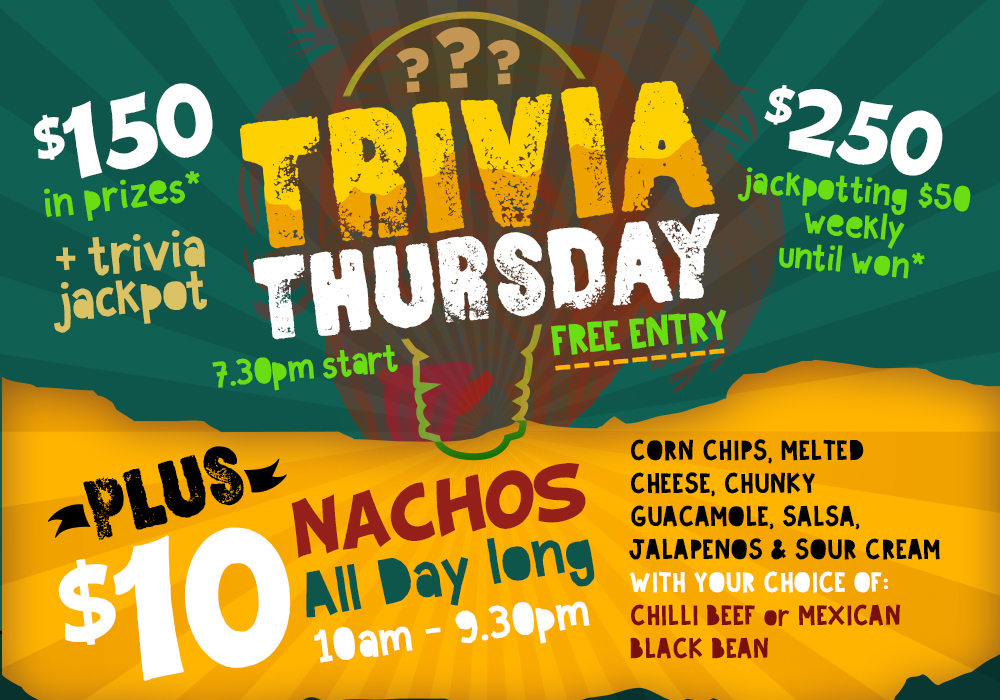 Thursday: Trivia | Pyrmont Bridge Hotel